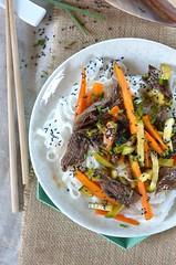 salade boeuf courgette (zesttangerine) Tags: salade boeuf carotte courgette asiatique recette nouilles riz