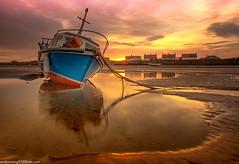 Meols Beach (7 of 7) (andyyoung37) Tags: beech meolsbeech merseyside reflections silhouette sea seaside sky sunrise thewirral meols england unitedkingdom gb