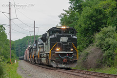 On Home Rails (Darryl Rule's Photography) Tags: 17g diesel diesels emd feasterville freight freighttrain heritage heritageunit mixedfreight ns norfolksouthern pa pc penncentral pennsy pennsylvania pennsylvaniarailroad sd70ace train trains trevose westbound