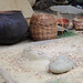 Pottery and grinding stone