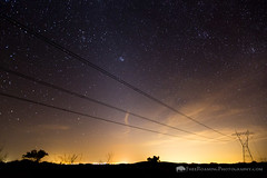 Power Lines and Light Pollution (Free Roaming Photography) Tags: americansouthwest arizona arizonatrail desertsouthwest electricallines electricity lightpollution nightsky power powerlines sonorandesert southernarizona starrynightsky stars utilities
