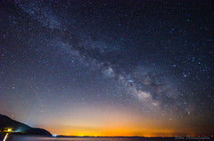 Milky Way over Lesvos (NikosPesma) Tags: milkyway galaxy milky night nightsky nightshot sea beach coast lights stars sky blue aegean greece lesvos charamida mitilini