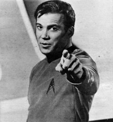 William Shatner wants you... to watch Star Trek (Tom Simpson) Tags: vintage startrek television tv williamshatner captainkirk jamestkirk