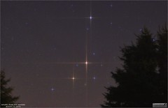 Saturn, Mars and Antares – August 22, 2016 (The Dark Side Observatory) Tags: tomwildoner leisurelyscientistcom leisurelyscientist saturn mars antares messier m4 scorpius constellation globularcluster astronomy astrophotography astronomer space science stars trees pines nightsky night star timelapse canon canon6d teamcanon conjunction