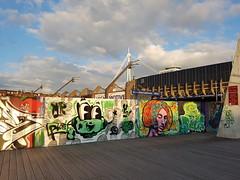 Millennium Walkway graffiti (DJLeekee) Tags: millenniumstadium walkway graffiti streetart rivertaff cardiff