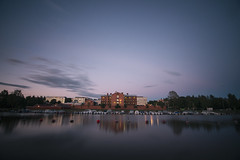 Prison of Vaasa (AlexanderHorn) Tags: vaasa prison twilight sunset blue sky sea long exposure ostrobothnia finland ocean water tokina wide night building nikon d610