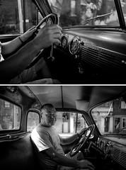 three.on.the.tree (jonathancastellino) Tags: hamilton diptych walterfurlan friend figure gmc 1953 truck conservation leica m summicron drive dash detail face hand portrait