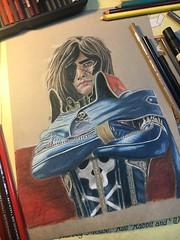 Captain Harlock!!! (jungle.real.baloo) Tags: captain prismacolor pencil fiction harlock fantasy drawing