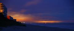 NIGHT ON THE BEACH (R. D. SMITH) Tags: dawn beach sand ocean morning water sunrise atlanticocean florida outside sky flickrnight