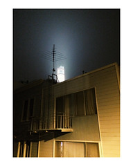 (danielbenmoyal) Tags: white border frame coittower noise travel sanfrancisco digital night iphone