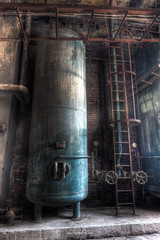 Blue Tank (Fine Art Foto) Tags: kraftwerk kraftwerkv powerstation powerplant megavolt braunkohle browncoal urbex urbanexploration urbandecay urban lostplace lostplaces oblivion decaying decay derelict discarded forgotten vergessen verlassen abandoned blue tank