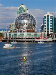 Tuesday Afternoon (Clayton Perry Photoworks) Tags: vancouver bc canada explorebc explorecanada falsecreek scienceworld boats kayak