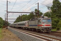 SPAX 2306 @ Yardley, PA (Dan A. Davis) Tags: septa aem7 pushpull passengertrain railroad locomotive train yardley pa pennsylvania