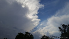 August 19, 2016 - Storm clouds build in the evening. (ThorntonWeather.com)