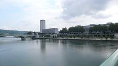 La Seine  Rouen (jeanlouisallix) Tags: rouen seine maritime haute normandie france rivire fleuve quais reflets tours des archives conseil gnral berges panorama paysage landscape