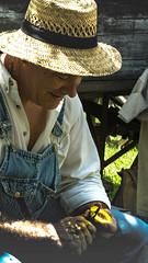 Peachy (Sally Gwyn Heffentrager) Tags: 2016 sallyheffentrager gwyneddgwyn goshenhoppenfolkfest peach snacking sallyheffentragergwyneddgwyn mongolia