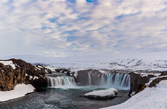 Godafoss falls in cloudy day, Iceland (Kanonsky) Tags: attraction beautiful cascade cliff cloud cloudy cold europe famous flowing godafoss iceland landmark landscape nature outdoors peninsula powerful river sky spring stream sunshine waterfall winter