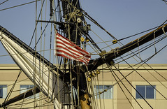 flying it's colors (TAC.Photography) Tags: donttreadonme tallship masts rigging flags doubletree