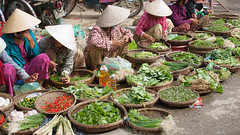 89737582 (Travelista.sk) Tags: architecture asia bricks building decay food green hoian market mildew outdoor produce retail selling shutters vegetables vietnam wall windows