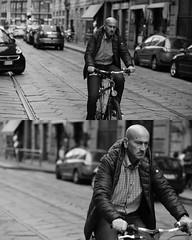 [La Mia Citt][Pedala] (Urca) Tags: 8911 milano italia 2016 bicicletta pedalare ciclicsta ritrattostradale portrait bike bicyclenikondigitale mir biancoenero bn bw blackandwhite