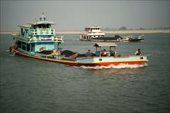 Shipping (*Kicki*) Tags: shipping marine transport cargo vessel boats boat ships ship river water sky irrawaddyriver ayeyarwadyriver irrawaddy myanmar burma theroadtomandalay coal
