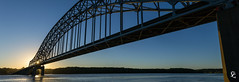 271/366 - New Day Dawning (sdgiere) Tags: dubuque iowa pano panorama sunrise dawn juliendubuquebridge mississippiriver river