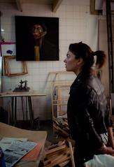frame workshop I (Fer Gonzalez 2.8) Tags: art picture frame leicadlux4 workshop paint woman