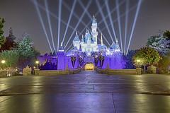Sleeping Beauty Castle Diamond Celebration (cstout21) Tags: disneyland disneylandresort sleepingbeautycastle diamond celebration spotlights hdr canon60d canon california anaheim