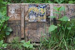DSC_0542 (Axisworks) Tags: alamerefalls california coasttrail marin marinheadlands palomarintrail box decay graffiti hike nature nonpotablewater trail warningsign water