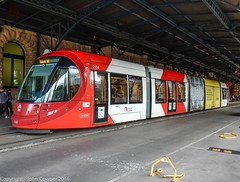 Sydney Light Rail - LRV2114 stands at  Railway Colonnade (john cowper) Tags: sydneylightrail centralrailwaystation railwaycolonnade lrv2114 transportfornsw heritage sydney newsouthwales