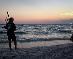 269/366 Piping Down the Sun (Bernie Anderson) Tags: ifttt 500px sunset beach water sea sun ocean dawn leisure recreation travel people summer sand surf dusk relaxation seashore evening bagpipes piping down