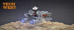 Tech West speeder (adde51) Tags: adde51 lego moc tech west speeder scifi desert cowboy sheriff