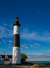 Big Sable Point Lighthouse (Bailiwick Studios) Tags: bigsablepointlighthouse ludingtonstatepark masoncounty michigan lighthouses location outdoor tower lighthouse architecture panasonic14mmf25
