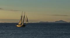 Night-time travel - D8E_5176 (Viggo Johansen) Tags: sailing sailboat sea ocean mountains sky clouds byfjorden randaberg rogaland norway night sunset