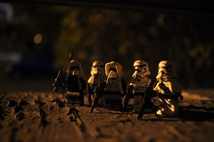 """is anyone else bored?"" (kevinmboots77) Tags: lego legography lowlightphotography starwars stormtroopers scouttroopers"