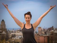 Zen in the city (estellerobertnyc) Tags: nyc newyork city ete rue street summer ville yoga zen