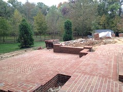 construction (25) (The Sharper Cut Landscapes) Tags: brick walkway steps patio thesharpercutlandscapes thesharpercut landscapedesign landscaping landscapelighting
