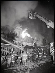 20160923-throwback-thurs-1981-003 (Official New York City Fire Department (FDNY)) Tags: fdny fire firefighting 1980s vintage throwback thursday tbt fire engine truck water nyc ladder truck new york city building suppression firefighter rescue smoke flames bronx