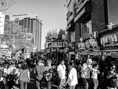 IMG_8203 (bmaccosham) Tags: black white niagara falls canada people midway arcade buildings sky street