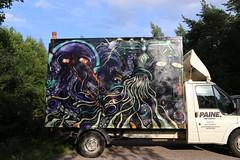 random graffiti (Thomas_Chrome) Tags: graffiti streetart street art spray can moving target object illegal vandalism suomi finland europe nordic truck lorry