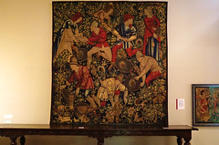 2016.02755a The Burrell Collection, 20 September 2016. Tapestry, Peasants Hunting Rabbits with Ferrets, c. 1450-1475, Franco-Burgundian. (jddorren08) Tags: glasgow burrellcollection scotland fineart decorativearts embroidery needlework ceramics paintings sculpture tapestries armour glass neareasterncarpets orientalart rugs sirwilliamburrell sonyalphaa6000 sigma30mm daviddorren jddorren
