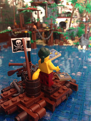 Pirate on a raft MOC (Capt. Cristbal F.) Tags: lego legopirates pirate pirates raft