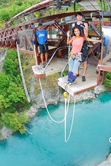 """First time Bungee Jumping at the Kawarau bridge in Queenstown, New Zealand. My own birthday´s present :-) March 2010 #itravelanddance • <a style=""""font-size:0.8em;"""" href=""""http://www.flickr.com/photos/147943715@N05/30045519022/"""" target=""""_blank"""">View on Flickr</a>"""