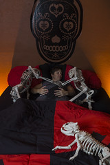 Day 3536 (evaxebra) Tags: halloween haunted skeleton bed red ikea harley quinn bones 33daysofhalloween 33days 365days 365 evaxebra pregnant pregnancy maternity opc2016 october octoberphotochallenge