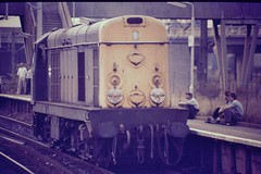 20011 Bescot station 1985 (bescotbeast) Tags: 20011 chopper class20 bescot bescotstation bescotyard d8011