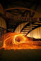 Coccoon of Sparks (Pixel-Poison Photography) Tags: peppermillroadbridge baltimore longexposure nightphotography nikond300s nikon1755mm28 bridges