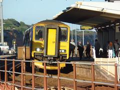 150221 & 153372 Dawlish (9) (Marky7890) Tags: gwr 150221 class150 sprinter 2t24 dawlish railway station devon train 153372 class153 supersprinter