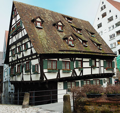 """""""Schiefes Haus"""" Of Ulm Germany (Seb v. Preussen) Tags: old house germany 28mm haus german 28 ml yashica f28 ulm altes schiefes"""