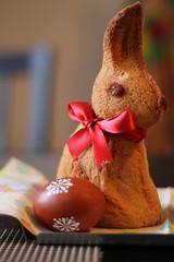 Painted egg and Easter bunny (elPadawan) Tags: food easter 50mm sweets czechrepublic velikonoce paintedeggs 2013 luecnadvltavou 0401eastermonday