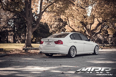 BMW_E90_MRR_GT7_WHEELS_02 (MRR WHEELS) Tags: white silver wheels bmw hyper hs concave bimmer mrr e90 gt7 335i